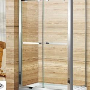 罗湖区钢化玻璃淋浴房华丽雅卫浴 旅馆扇形淋浴房航空铝材