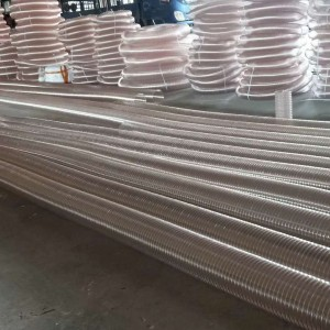 镀铜钢丝风管德州 价格 A 木工机械除尘伸缩德州