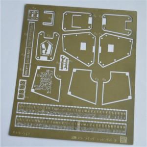 国锋科技 黄铜玩具模型蚀刻片定制不锈钢蚀刻