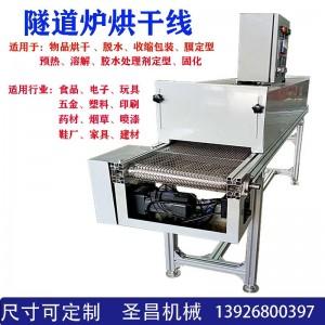 工业烤箱隧道炉烘干线五金丝印固化食品烘干耐高温输送流水线