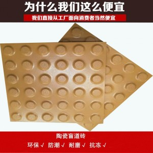 河北盲道砖供货商众光 提供大量纸箱包装的全瓷盲道砖