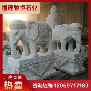 公园大象雕塑 门口石雕大号象 石材大象尺寸