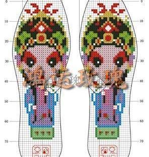 不用画格子的十字绣十字绣针孔鞋垫供应商 济南玫瑰鞋垫厂