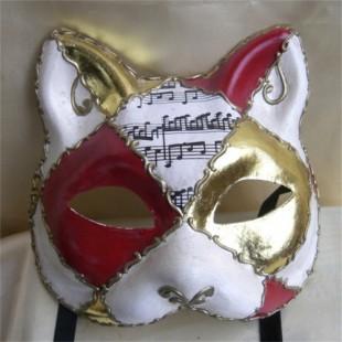 深圳晖泰猫脸面具厂家直销纸浆环保面具万圣节面具