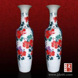 定制陶瓷大花瓶厂家 陶瓷大花瓶价格 开业典礼装饰大花瓶