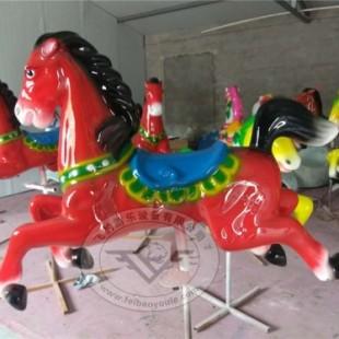 12座简易折叠转马价格   简易转马厂家