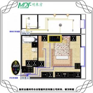 供应鹤岗 酒店专用RCU客控 客房灯光电器控制解决方案