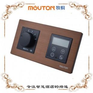 供应湖北 合业 温度显示器 客房温控器 不锈钢拉丝面板