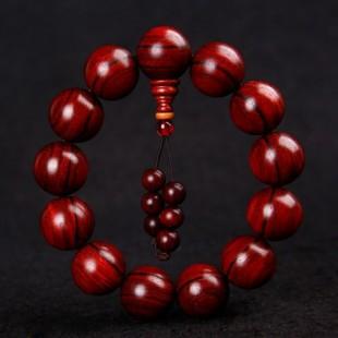 中山佛珠厂家中山红木檀木佛珠手链批发加工小叶紫檀