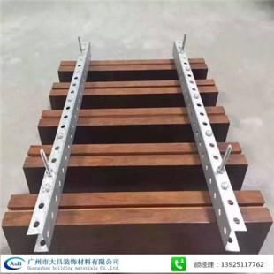 广州厂家直销定制铝方通吊顶 木纹铝方通 U型铝方通 铝方通幕