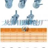 中山工业铁芯黑橡胶脚轮