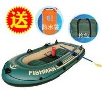 渔人三人充气钓鱼船橡皮艇