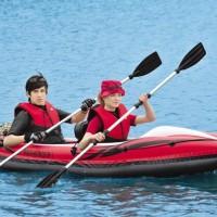 探路者双人充气独木舟