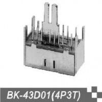 供应双刀双掷拨动开关BK-43D01(4P3T)