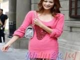 广州沙河女装长袖针织衫批发 广州便宜针织衫毛衣批发市场
