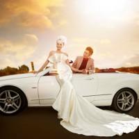 拍杭州韩式风格婚纱照