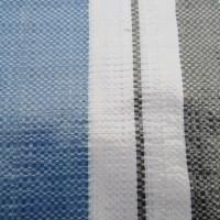 4140黑蓝白条彩条布