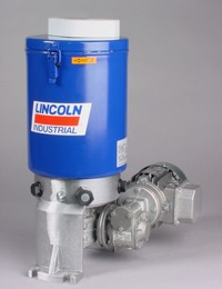 Lincoln P205 electric lubrication pump, pneumatic pump lubrication