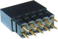 2.54间距1*40排针/单排40P直排排针/180度插针