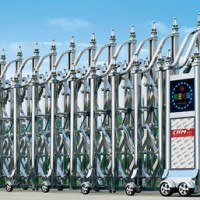 【供应安装】青岛电动伸缩门 智能防盗不锈钢电动伸缩门