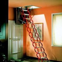 铝合金伸缩楼梯 铝合金伸缩楼梯厂家 新乡绅士楼梯