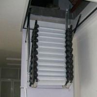 碳钢伸缩楼梯 优质碳钢伸缩楼梯 新乡绅士楼梯