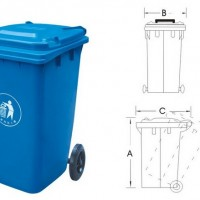 120升塑料垃圾桶