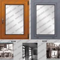 上海生产三玻铝木门窗厂家,高档木包铝内开门窗报价