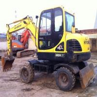 出售现代60-7型轮胎挖掘机