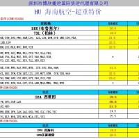 HU超重货物有优惠,东南亚低至6.5元