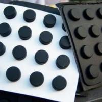背胶圆形黑色玻璃垫