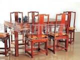 老挝大红酸枝明式餐桌 红木餐桌 红木长餐桌