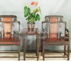 老挝大红酸枝/交趾黄檀太师椅 红木宝座 红酸枝玫瑰椅