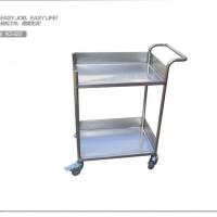 不锈钢手推车 304不锈钢小推车 双层手推车RCS-0237