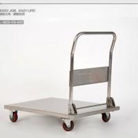 不锈钢手推车 折叠手推车 物流单层平板车RCS-FS-012