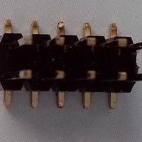 1.27MM间距双塑排针弯脚/90度弯脚排针1.27镀金排针