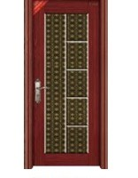 提供豪华复合钢木套装门QP-2001黑金花