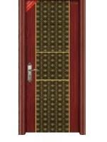 提供时尚艺术钢木套装门QP-3002