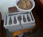 供应戒指海绵内衬 首饰包装海绵 植绒海绵盒子