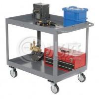 移动书车 办公用书车 图书馆书车 双层钢制书车RCA-021