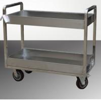 不锈钢餐车 多功能服务车 双层餐饮用小推车RCS-R022
