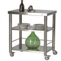 不锈钢移动推车|多功能服务餐车厨房不锈钢餐车RCSFAM01
