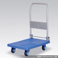 塑料静音手推车|手推平板车可折叠|多功能移动拉货车LS200