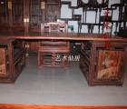 莆田知名的丝翎檀雕办公桌两件批