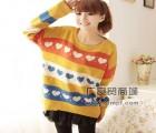 修身保暖中长款打底毛衣间条针织女装便宜秋冬针织上衣批发市场