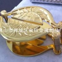 欧式镜面钛金铝雕拉手,有框门适用钛金雕刻拉手