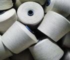 针织用纱 梭织用纱麻涤55/45漂白30s;