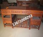 中式古典书桌|红木直角写字台|刺猬紫檀写字台|简约办公桌价格
