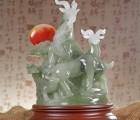 大号玉石三羊开泰摆件,广东各种羊年礼品摆件定做