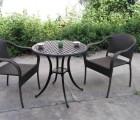 露台咖啡店户外胶木桌椅 咖啡店室外外摆休闲藤桌椅
